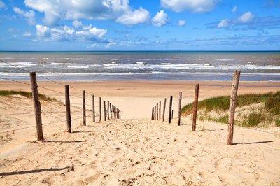 Pixerstick para Todas las Superficies Camino a la playa por el mar del Norte