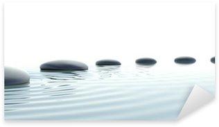 Vinilo Pixerstick Camino de piedras zen en formato panorámico