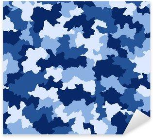 Vinilo Pixerstick Camuflaje azul, seamless, patrón
