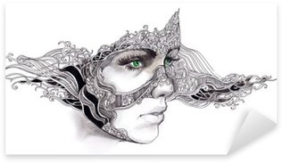 Pixerstick para Todas las Superficies Cara de mujer abstracta