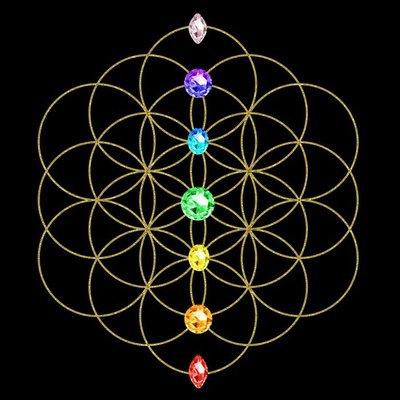 Pixerstick para Todas las Superficies Chakra - Flor de la Vida - Símbolo de Energía