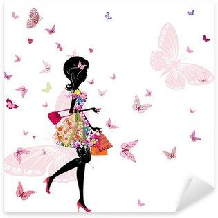 Pixerstick para Todas las Superficies Chica de una tienda de flores en