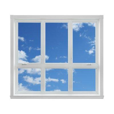 Pixerstick para Todas las Superficies Cielo azul visto a través de la ventana