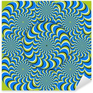 Pixerstick para Todas las Superficies Círculos de onda ilusión óptica