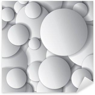Vinilo Pixerstick Círculos del vector, objetos mínimos, vector composición abstracta del diseño