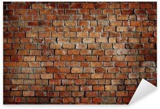 Vinilo Pixerstick Clásico Hermosa textura pared de ladrillo