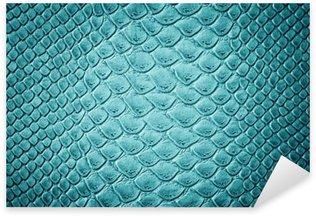 Vinilo Pixerstick Cocodrilo turquesa textura de la piel