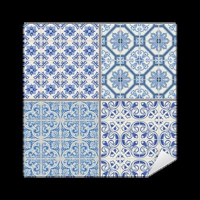 Vinilo pixerstick colecci n seamless background vintage for Azulejos pvc autoadhesivos