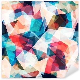 Vinilo Pixerstick Color transparente patrón de mosaico con efectos grunge