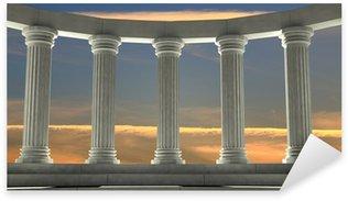 Vinilos columnas y arcos pixers vivimos para cambiar for Marmol color naranja