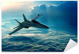 Vinilo Pixerstick Combatiente de jet