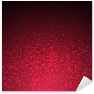 Vinilo Pixerstick Conexión triángulo rojo resumen de antecedentes. ilustración vectorial