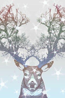 Pixerstick para Todas las Superficies Congelado árbol cuerno de ciervo
