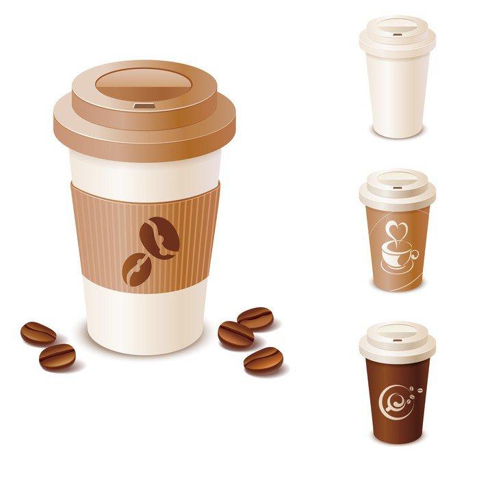 Vinilo pixerstick conjunto de tazas de caf para llevar for Cafe para llevar