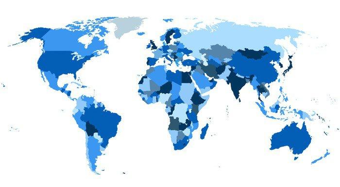 Vinilo pixerstick continentes del mapa del mundo pixers for Vinilo mapa del mundo