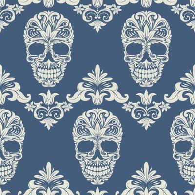 Pixerstick para Todas las Superficies Cráneo del remolino patrón decorativo