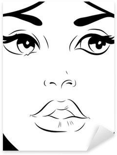 Pixerstick para Todas las Superficies Croquis noir et blanc femme visage gros plan