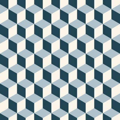 Pixerstick para Todas las Superficies Cubos vendimia del fondo 3d patrón. vector patrón de retro.