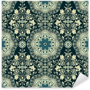 Vinilo Pixerstick Damask seamless pattern
