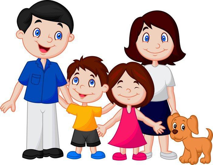 Worksheet. Vinilo Pixerstick De dibujos animados feliz de la familia  Pixers