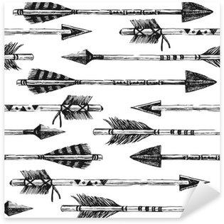 Vinilo Pixerstick Dibujado a mano sin patrón, con las flechas