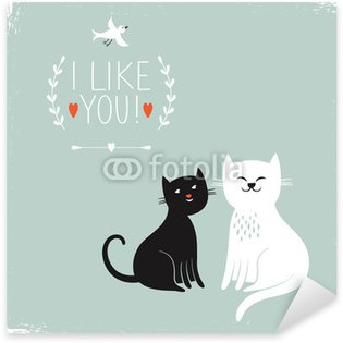 Pixerstick para Todas las Superficies Dos gatos lindos