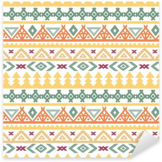 Vinilo Pixerstick El arte tribal boho étnico patrón transparente