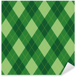 Pixerstick para Todas las Superficies El modelo de Argyle rombo verde textura fluida, ilustración