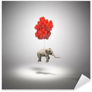 Pixerstick para Todas las Superficies Elefante con globos