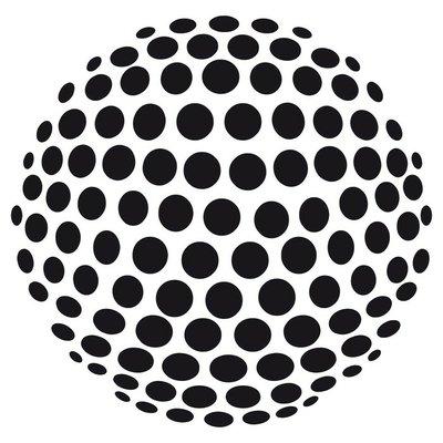 Pixerstick para Todas las Superficies Esfera abstracta 3d de los círculos - opcional
