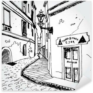 Pixerstick para Todas las Superficies Esquema de una calle vieja