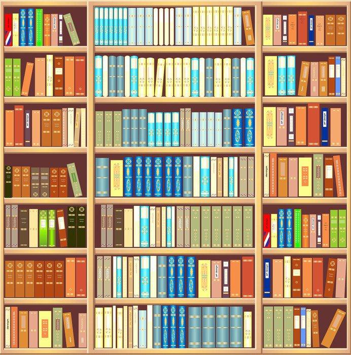 vinilo pixerstick estantera llena de libros biblioteca