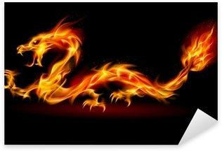 Vinilo Pixerstick Fire Dragon