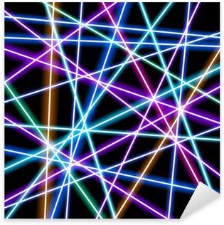Vinilo Pixerstick Fondo abstracto del vector, líneas más brillantes, geometría, tecnología, fondos de escritorio de neón