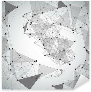 Pixerstick para Todas las Superficies Fondo abstracto hecha de puntos y líneas