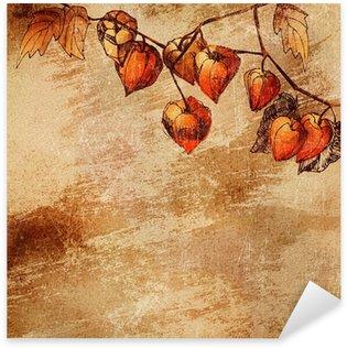 Pixerstick para Todas las Superficies Fondo de Grunge con un esquema de color naranja physalis