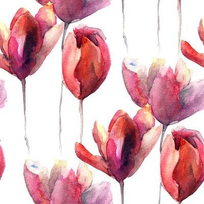 Pixerstick para Todas las Superficies Fondo de pantalla transparente con flores de los tulipanes