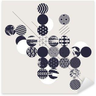 Pixerstick para Todas las Superficies Fondo geométrico abstracto moderno
