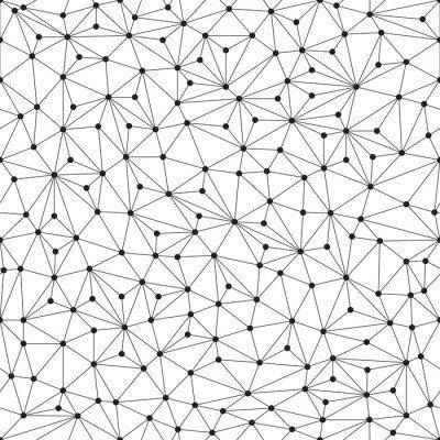 Pixerstick para Todas las Superficies Fondo poligonal, sin patrón, líneas y círculos