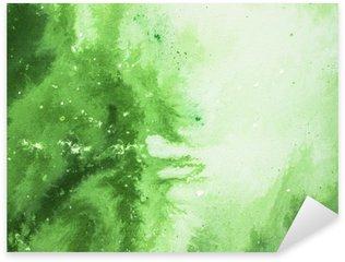 Pixerstick para Todas las Superficies Fondo verde del arte abstracto, pintura de texturas.