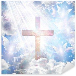 Vinilo Pixerstick Formas de la Cruz y de los ángeles