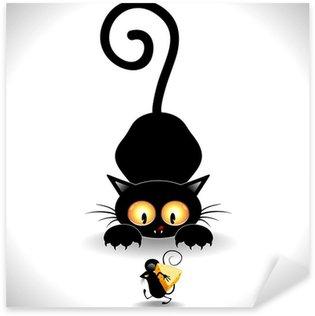 Pixerstick para Todas las Superficies Gato de la historieta-Cat Emboscada Emboscada y Mickey Mouse Clip Art
