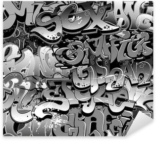 Vinilo Pixerstick Graffiti seamless background. Textura Arte urbano
