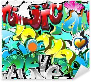 Vinilo Pixerstick Graffiti Urbano Técnica. Diseño sin costuras