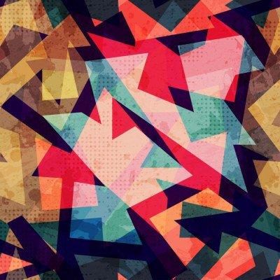 Pixerstick para Todas las Superficies Grunge sin fisuras patrón geométrico