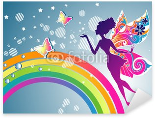 Vinilo Pixerstick Hada del arco iris gráfico
