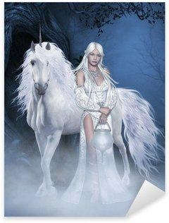 Vinilo Pixerstick Hada del unicornio y hermoso