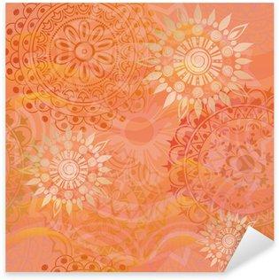 Pixerstick para Todas las Superficies Hermosa textura con adornos en colores cálidos