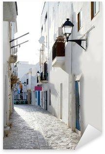 Pixerstick para Todas las Superficies Ibiza centro casas blancas estrecha calle