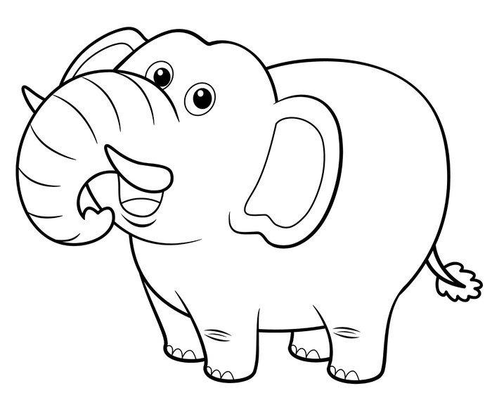 Vinilo Pixerstick Ilustracin de dibujos animados de elefantes